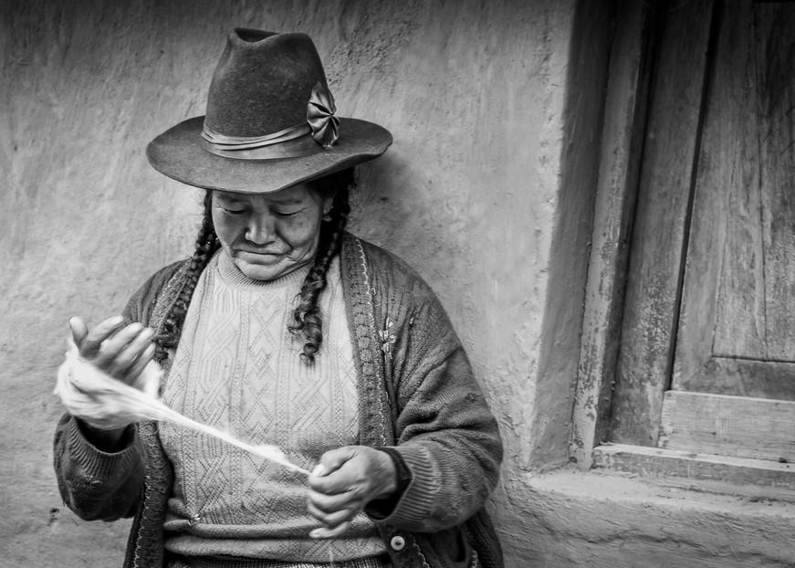 Portrait of a villager in Peru