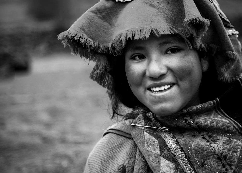 Portrait of a villager in Peru