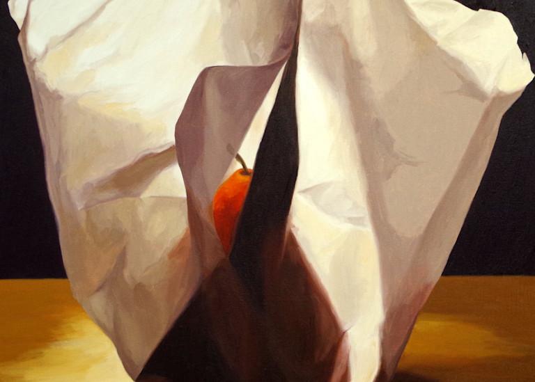 Pear Wrapped In Tissue Paper 2 Art   Helen Vaughn Fine Art