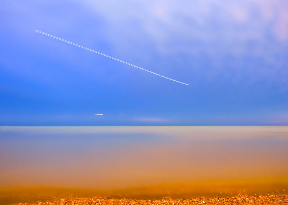 Calm Night With Jets Photography Art | Ted Glasoe, Artist