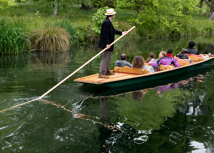 Punting Avon River Christchurch Nz Photography Art | Hatch Photo Artistry LLC