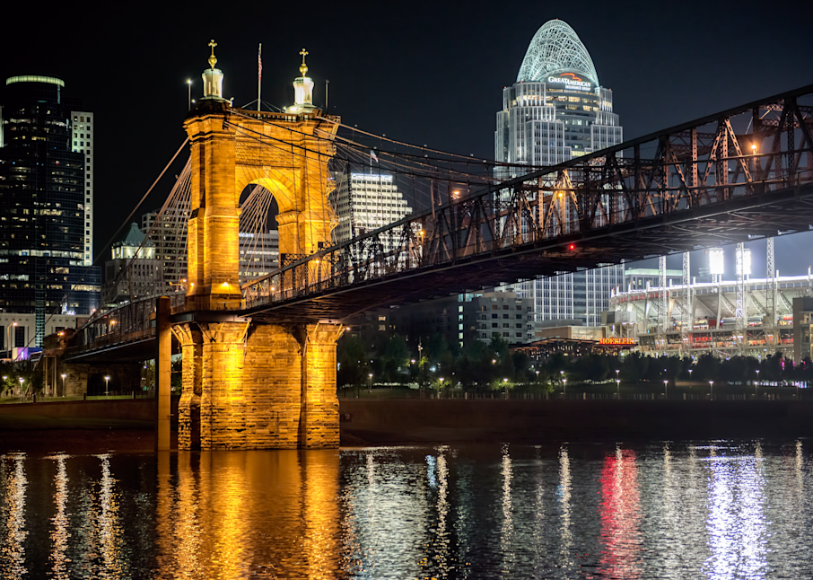 Cincinnati Old And New Night Cityscape Photography Art | Hatch Photo Artistry LLC