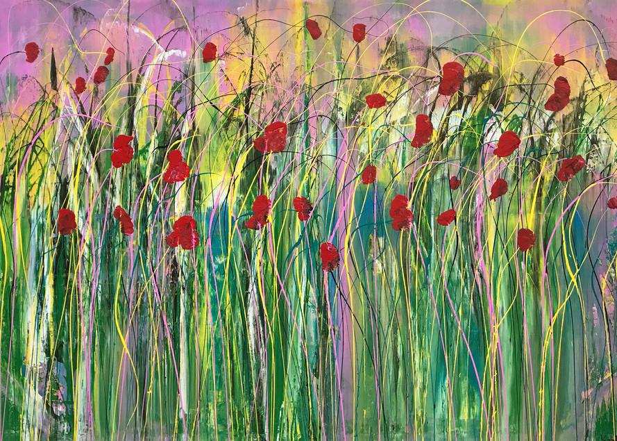 Poppies In The Wind  Art | Maciek Peter Kozlowski Art