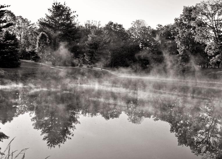 September Morning Pond Photography Art   Hatch Photo Artistry LLC