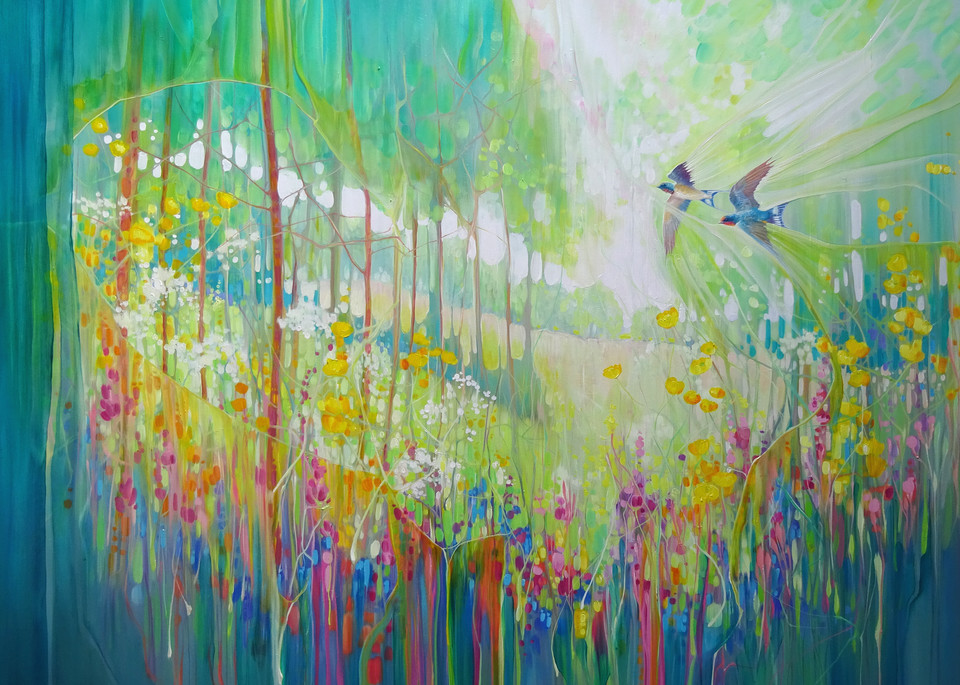 print on canvas or paper of abundance
