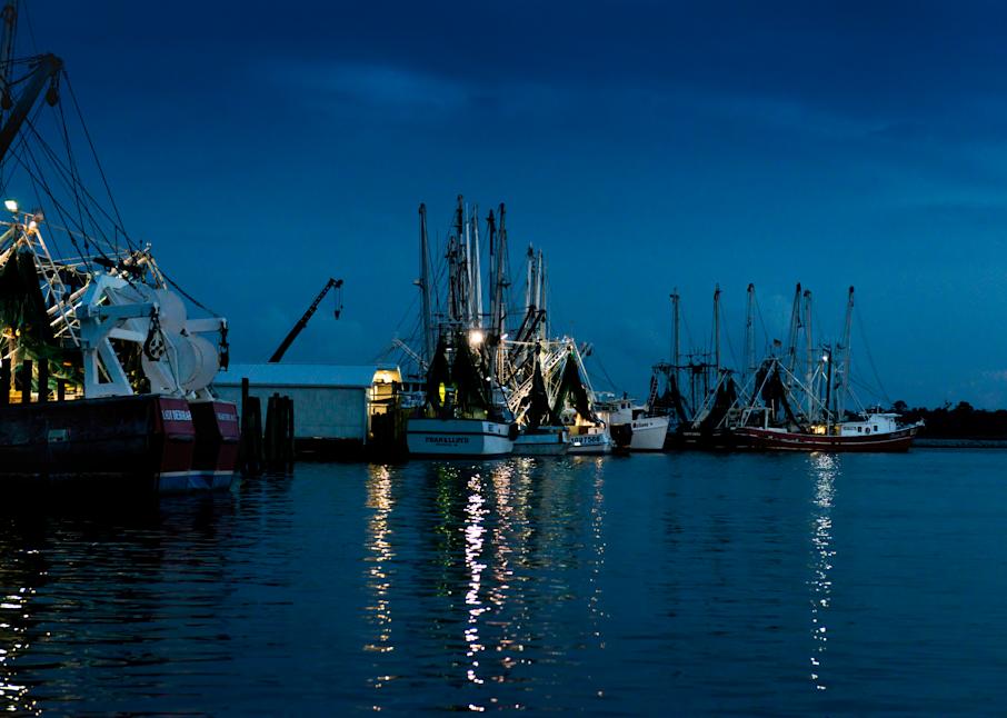 Working Harbor At Nightfall Photography Art | Hatch Photo Artistry LLC