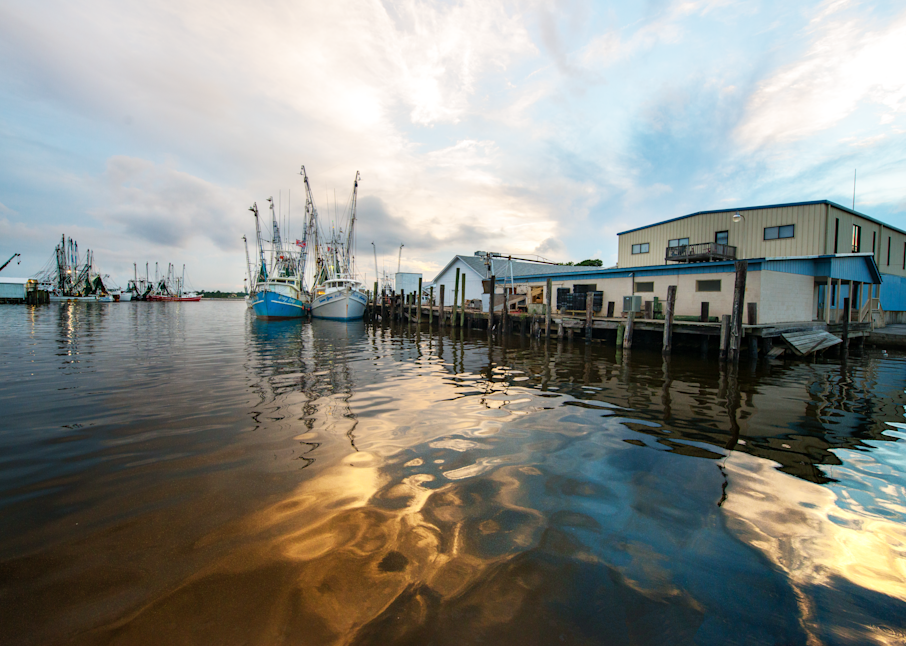 Shrimpboats In The Evening Photography Art | Hatch Photo Artistry LLC