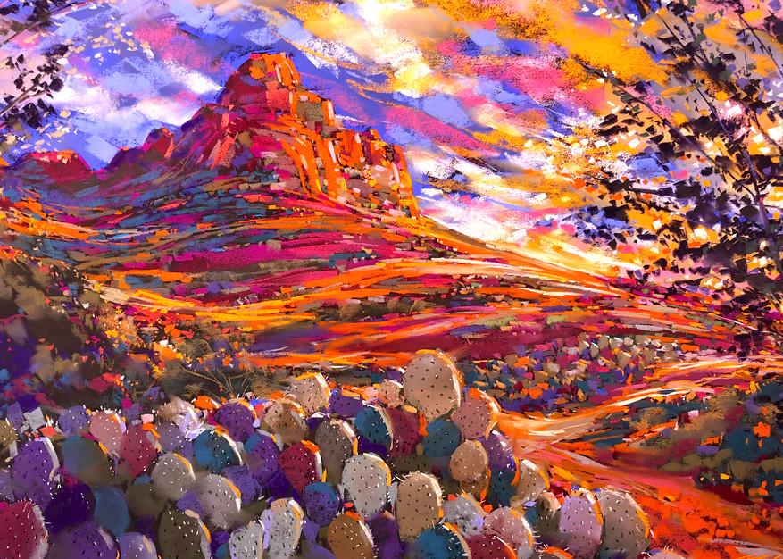 Prickley Pear Sun Art   Michael Mckee Gallery Inc.