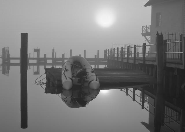 Dinghy in Morning Fog