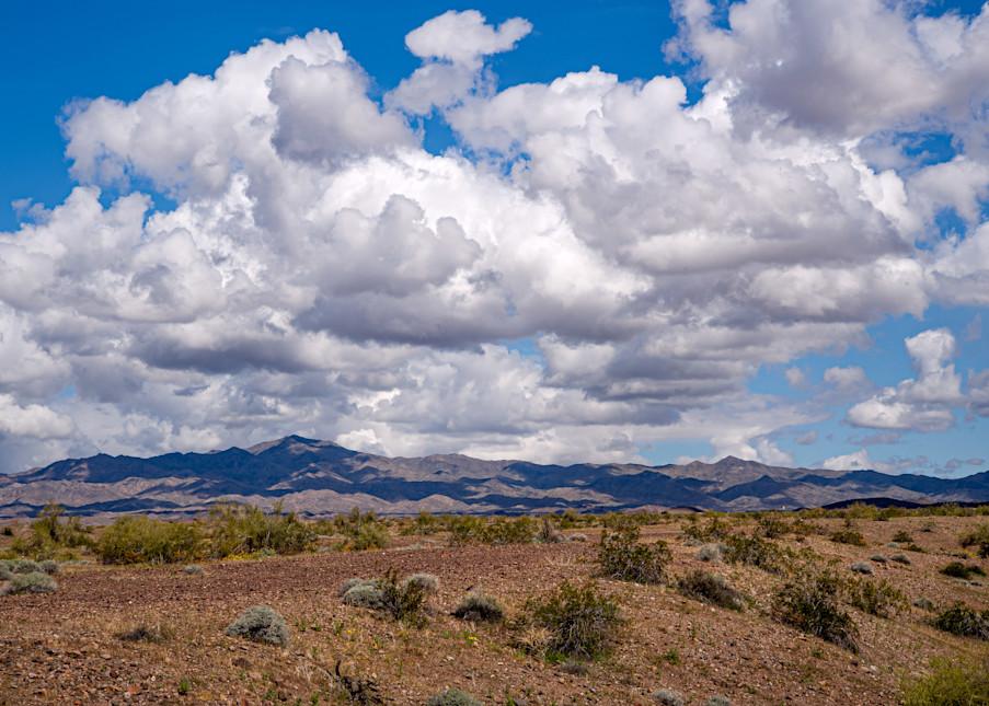 Clouds in a desert sky