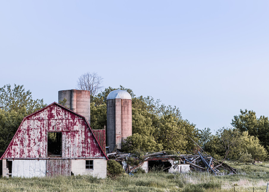 Red Barn Ruins Photography Art | Spry Gallery