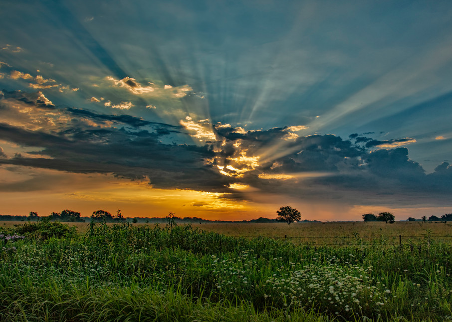 Sunrise With Sun Rays 7471 Art   Koral Martin Fine Art Photography