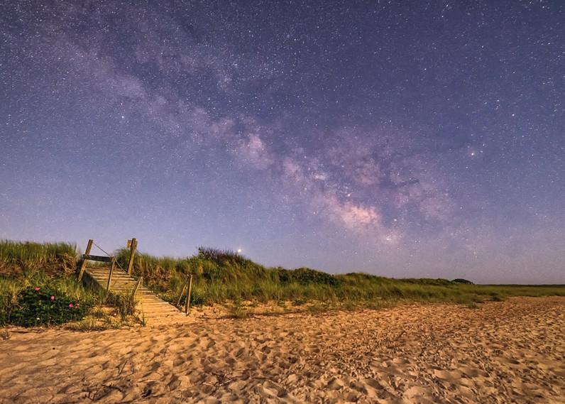 Long Point Milky Way Wooden Walkway Art | Michael Blanchard Inspirational Photography - Crossroads Gallery
