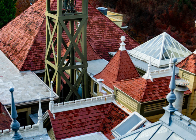 Too Many Roofs Photography Art   Ron Olcott Photography