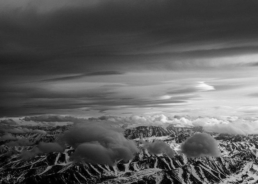 Flying over a few Alaska mountains