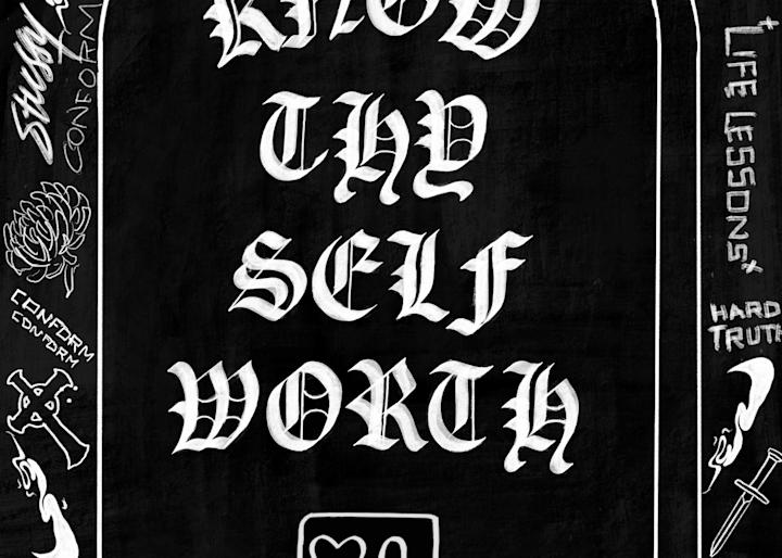 Know Thy Self Worth Art | GINOZKO