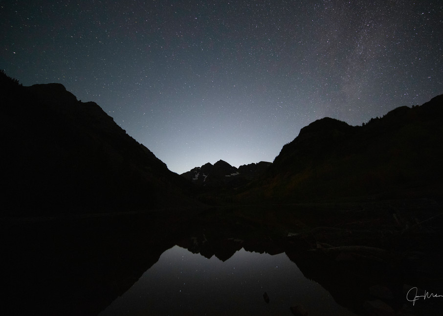 Maroon Bells Colorado, a little past midnight