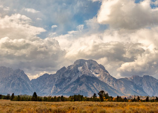 snow strom in the Grand Tetons mountains