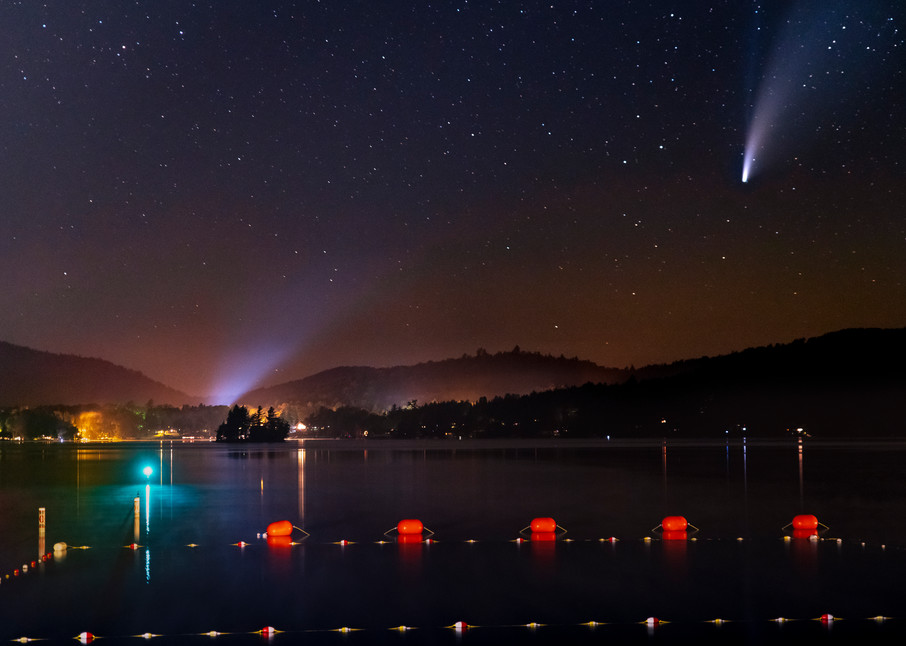 Neowise Comet From Inlet, Ny Photography Art | Kurt Gardner Photogarphy Gallery