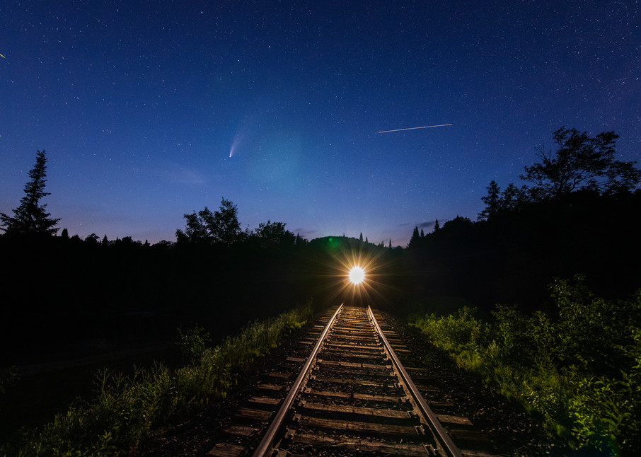 Neowise Comet, Train And Space Station Photography Art | Kurt Gardner Photogarphy Gallery