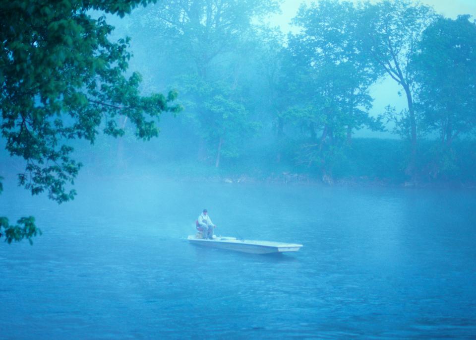 White River John Boat Photography Art | Craig Primas Photography