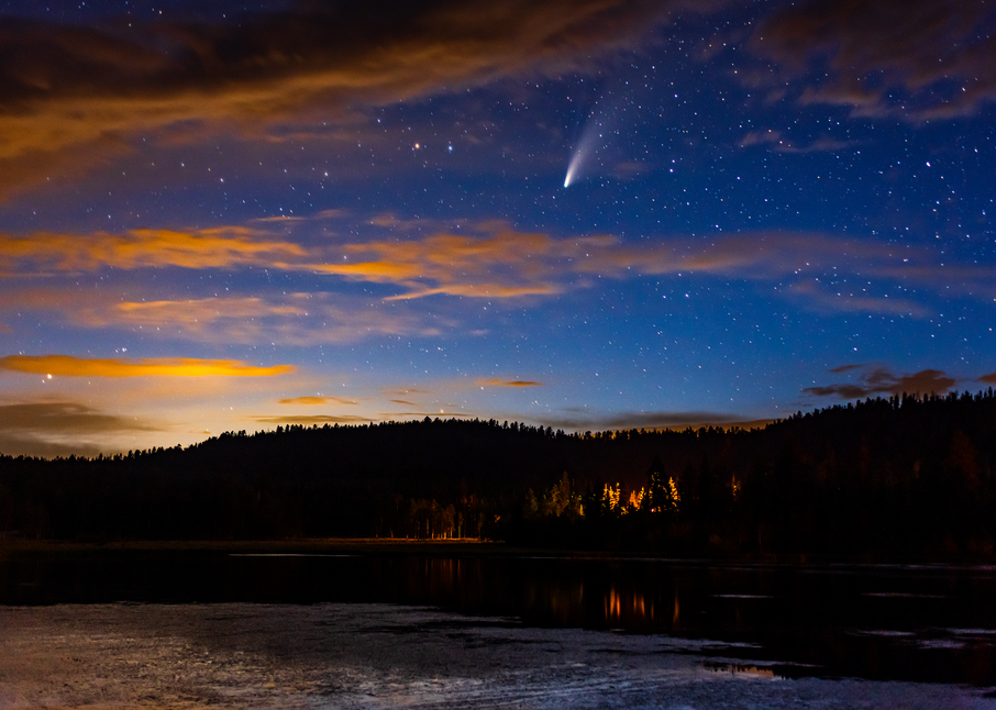Neowise Over Duck Creek Pond Photography Art | Craig Primas Photography