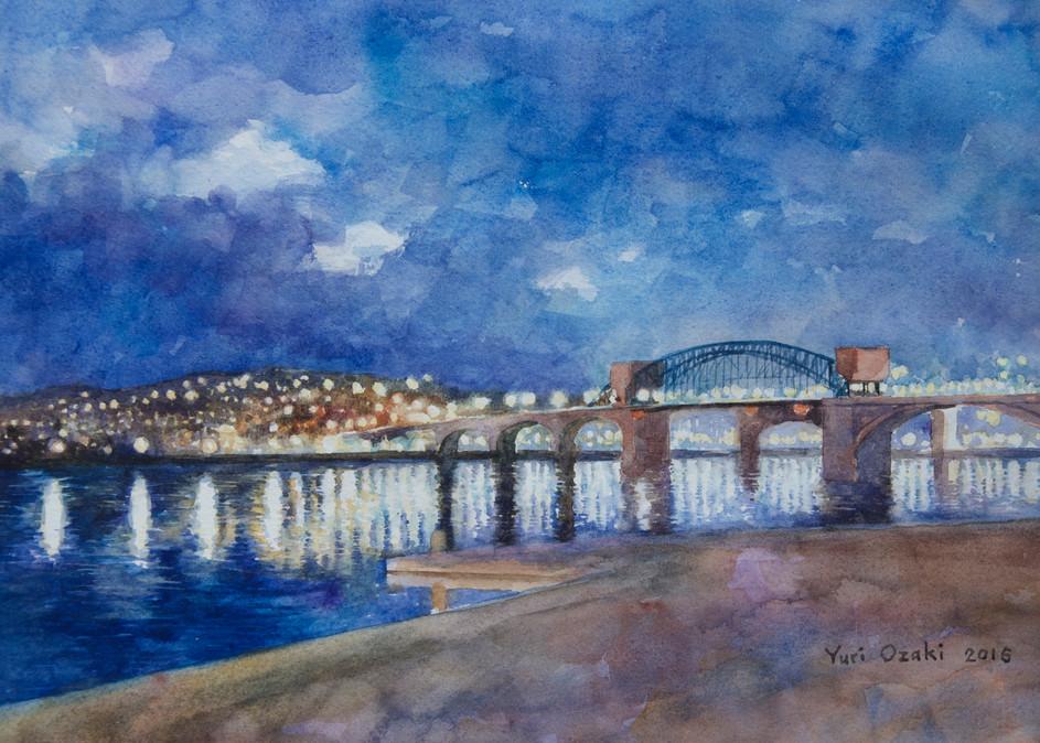 Chattanooga Market Street Bridge Art | Romanova Art