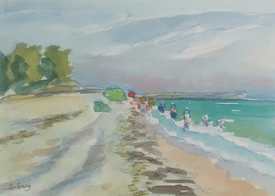 Down The Beach  Art | Sharon Guy