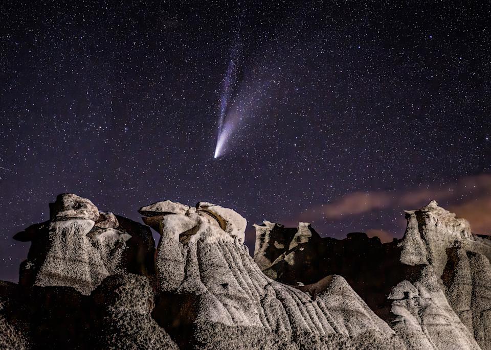 Comet Over Bisti I Photography Art | Peter Batty Photography