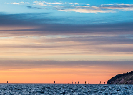 Sunset Over The Frankfort Lighthouse And Pier Photography Art | Drew Smith Photography, LLC