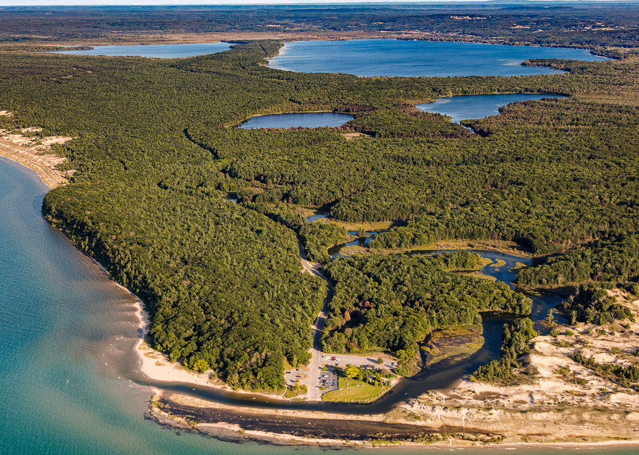 Aerial View Of The Lower Platte River And Platte Lakes Photography Art | Drew Smith Photography, LLC