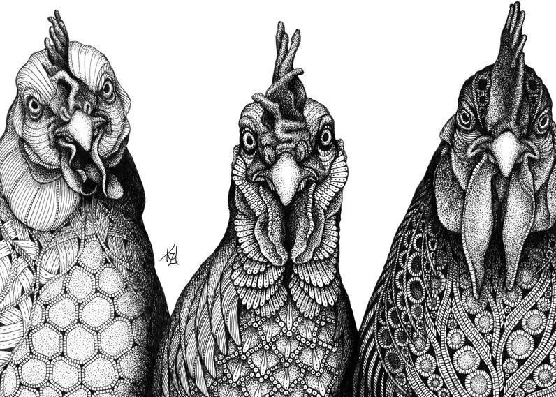 "Birds Of A Feather Art | Kristin Moger ""Seriously Fun Art"""