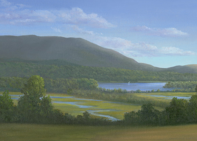 *View Of The Hudson River And Tivoli Marshes From Blithewood, Bard Art | Tarryl Fine Art
