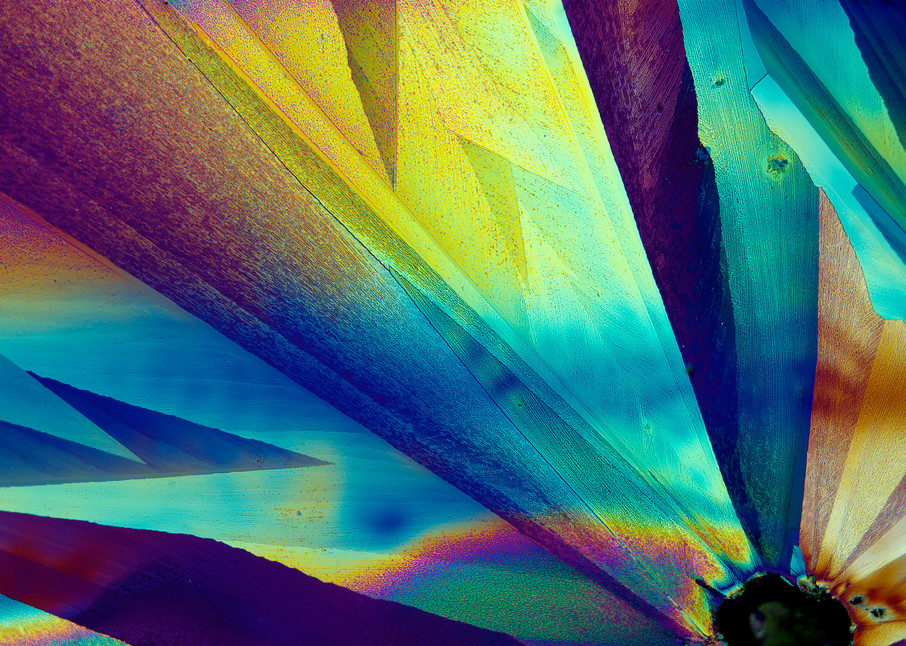 Ray Of Hope (Vanillin And Lidocaine Crystals) Art | Carol Roullard Art
