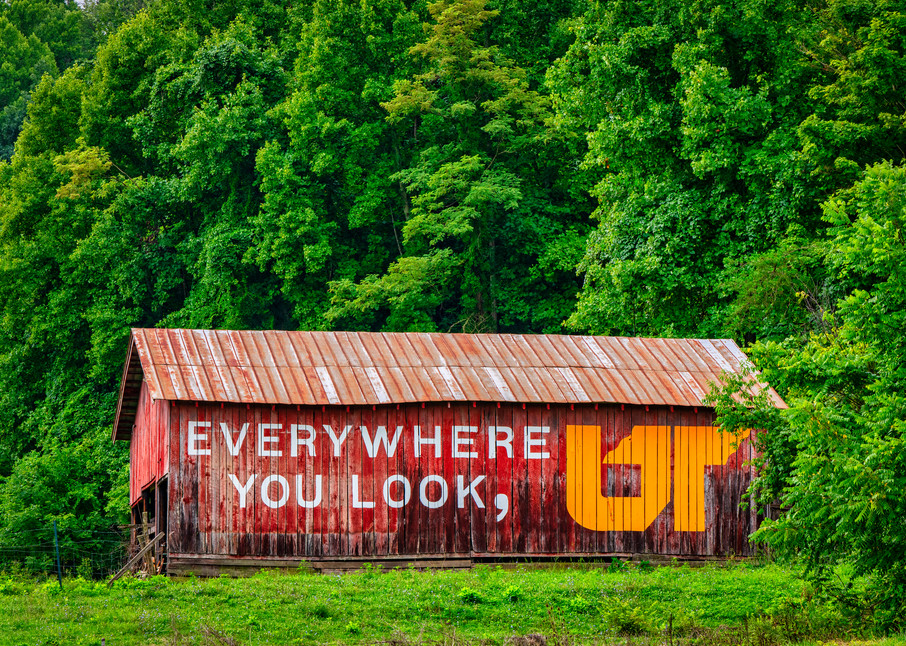 Everywhere you look UT barn - University of Tennessee fine-art photography prints