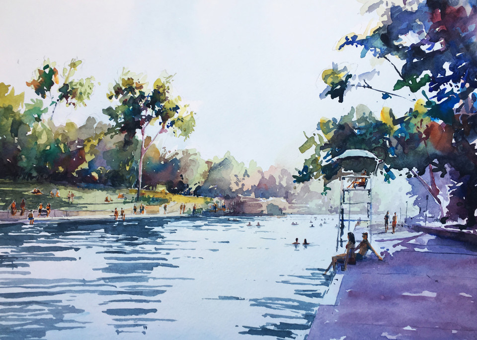 Austin   Barton Springs 1 Art   Steven Dragan Fine Art