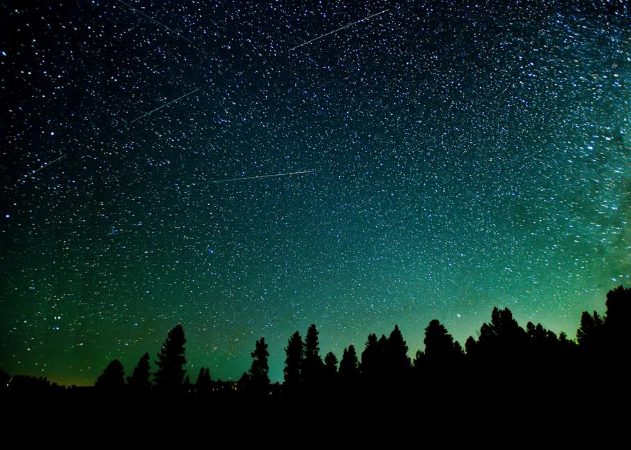 Meteors Over Duck Creek Village Photography Art | Craig Primas Photography