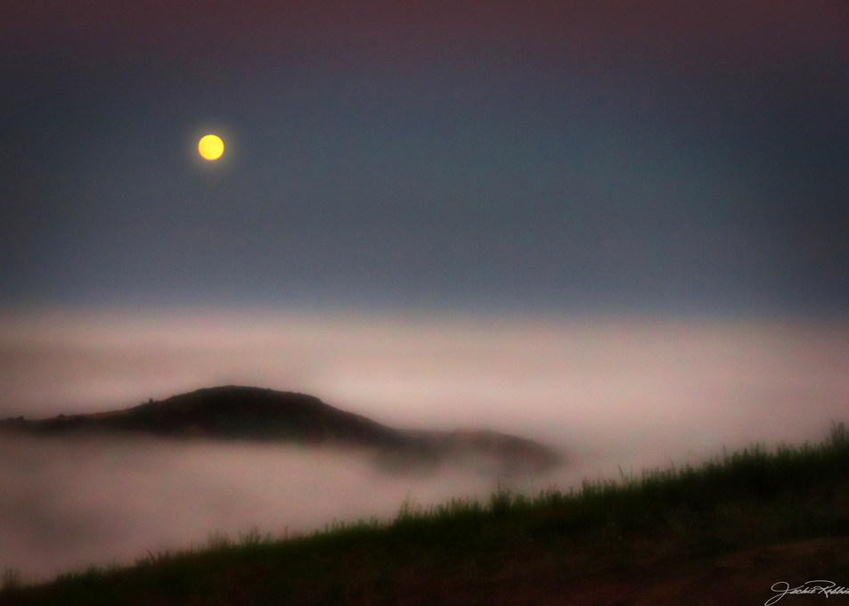 mystical moonrise fog cloudless landscape sunset jackie-robbins-studio photographic-prints buy-art-online
