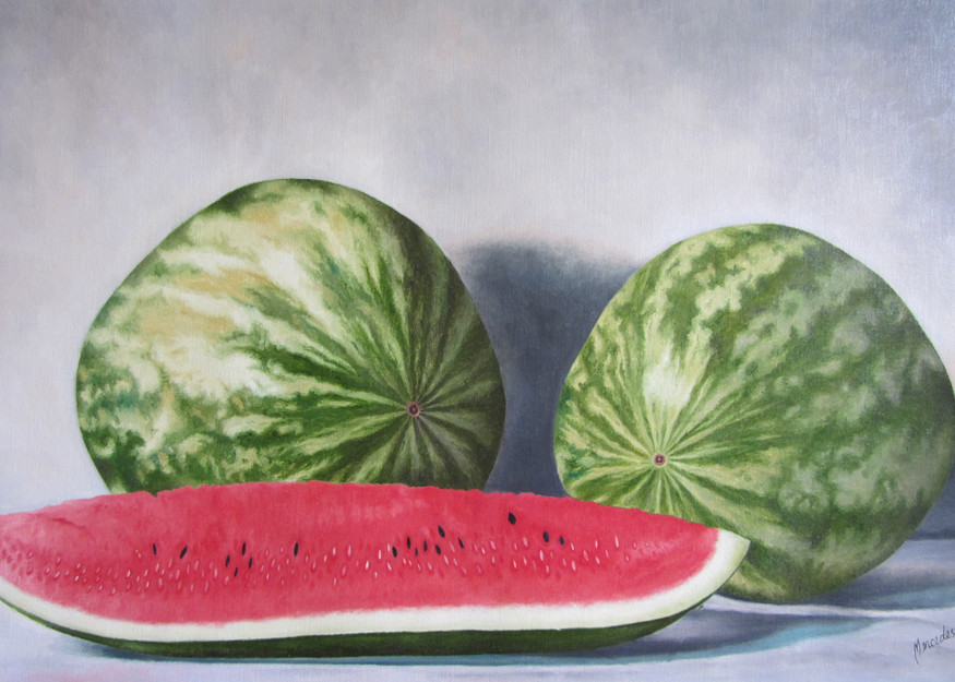 Watermelon   Prints  Art | Mercedes Fine Art