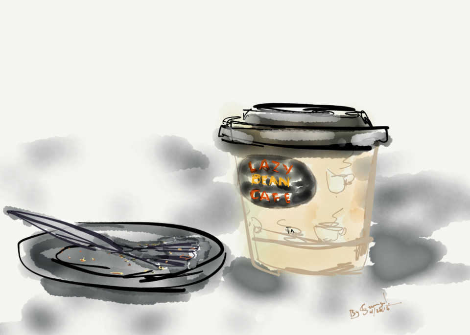Pt Cafe Waiting#1.77 Art | ART By George!