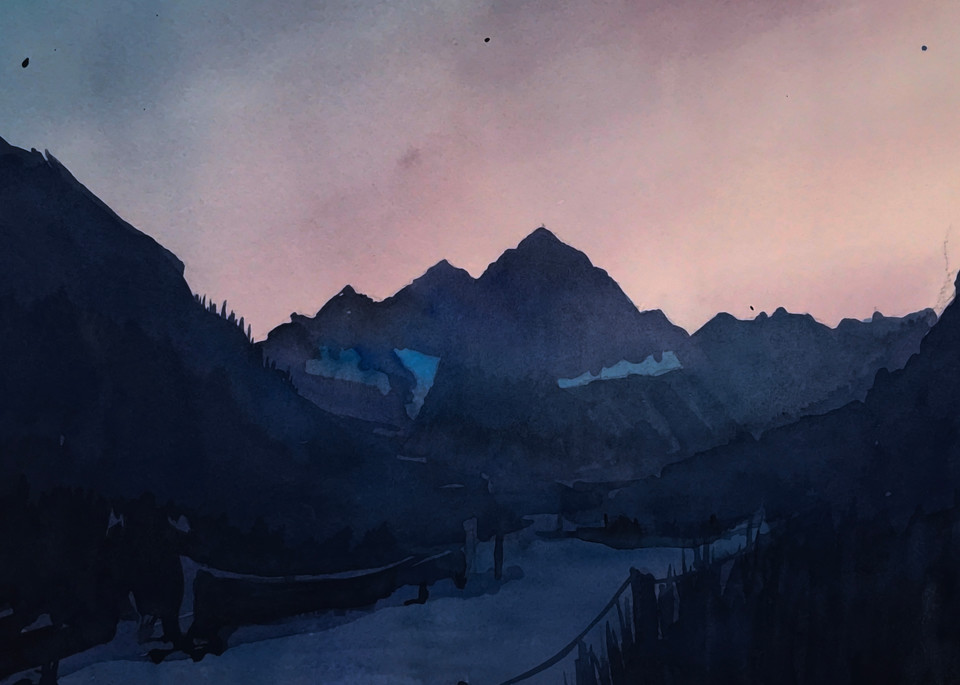 Mt Aspen Maroon Bells Dusk Art   Steven Dragan Fine Art