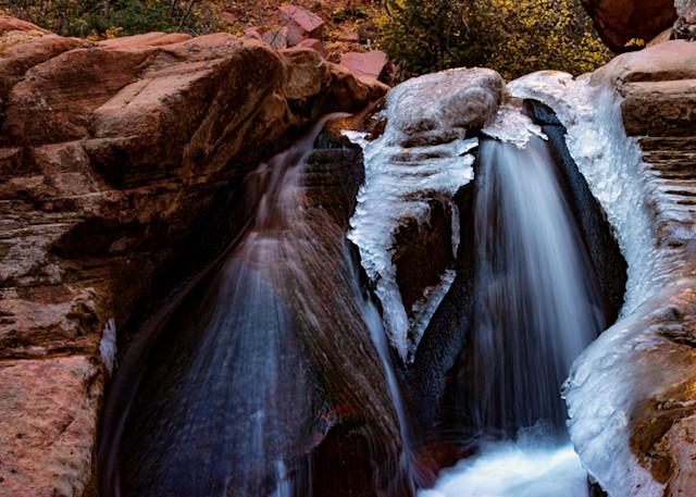 Kanarraville Canyon Slot Canyon Middle Ice Falls 3071  Photography Art | Koral Martin Healthcare Art