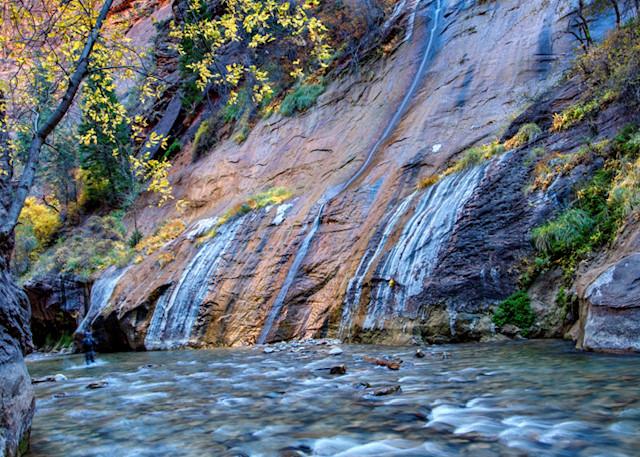 Narrows Waterfall2804  Photography Art | Koral Martin Healthcare Art