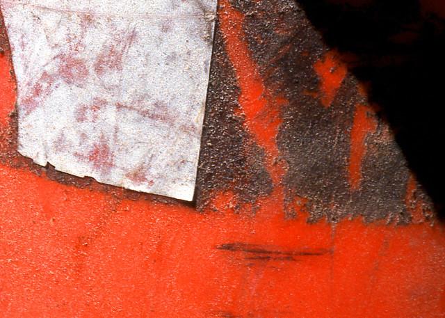 Decision Abstract Orange Cone Fine Art Print – Sherry Mills