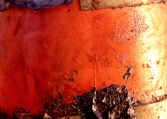 Abstract Orange Black San Diego Photo Print – Sherry Mills