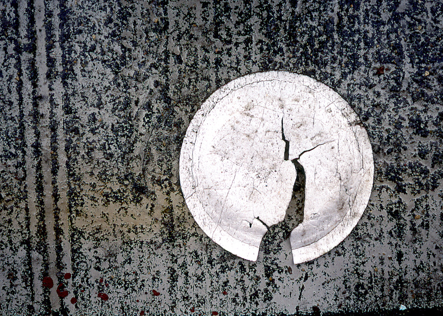 Bronx Plate Abstract Sidewalk Art Print – Sherry Mills