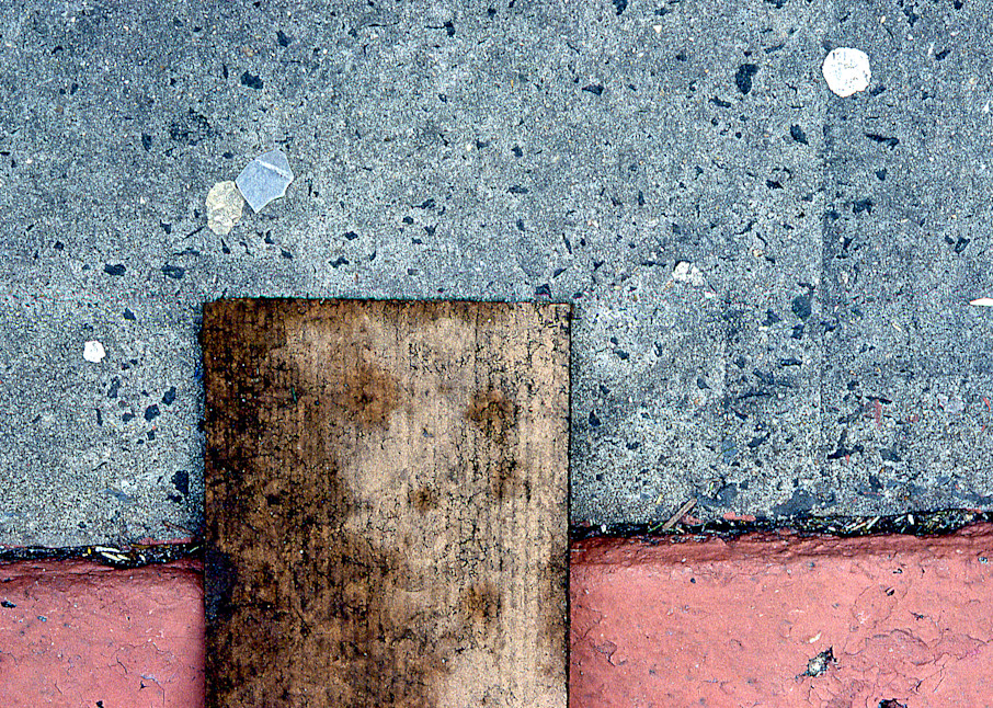 NYC Sidewalk Composition Pink Abstract Print – Sherry Mills