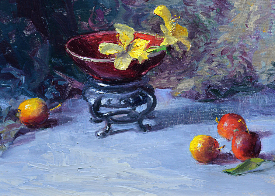Chinese Bowl And Cherries Art | Liliedahl Art