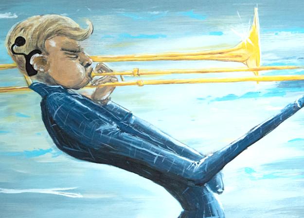 The Trombone Player Art   Priscila Soares - MyLuckyEars