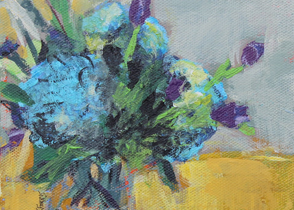 "Print Of ""Blue Hydrangeas"" Art   Jennifer Ferris"